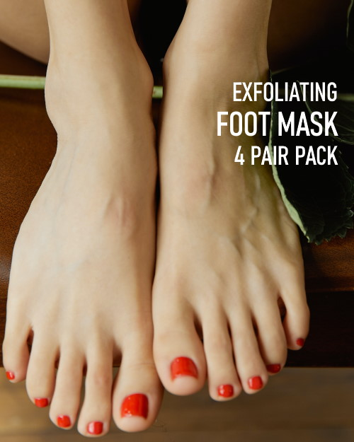 Exfoliating Foot Mask Family pack 4 pair pack image